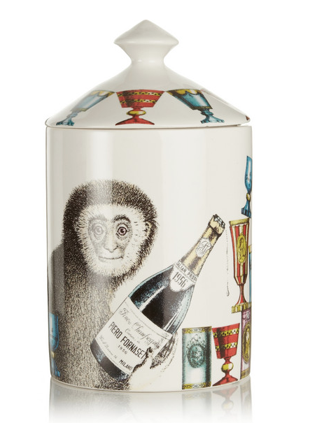 Fornasetti Scimmie Thyme, Lavender and Cedarwood Scented Candle Fete-a-Tete