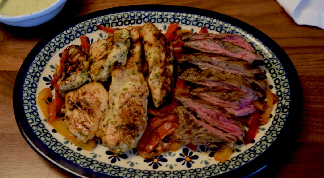 Latin Party Platter: Grilled Chimichurri Chicken and Steak Fete-a-Tete