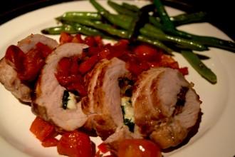 Pork Squared to The Cheese Degree?!            Chorizo Mozzarella Stuffed Pork Chops Fete-a-Tete 4