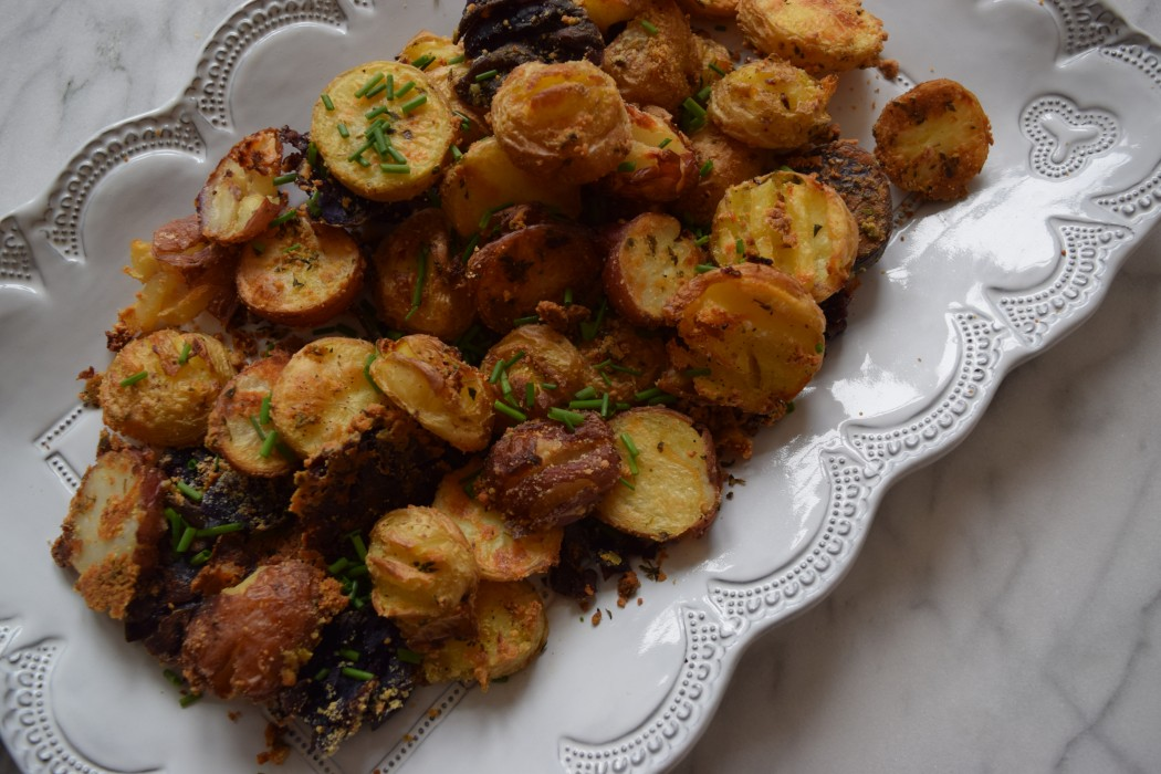 Parmesan-Herb Roasted New Potatoes Fete-a-Tete