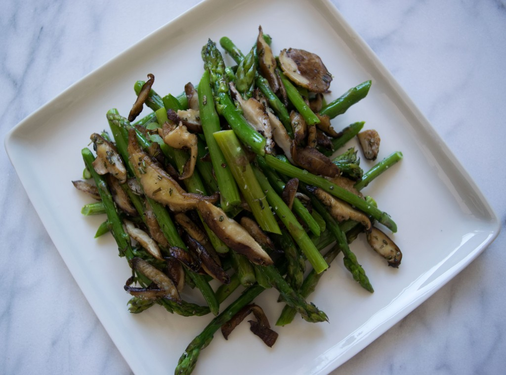 Ginger-Herb Roasted Asparagus and Shrooms Fete-a-Tete 2