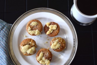 Banana Muffins with Walnut Streusel Fete-a-Tete