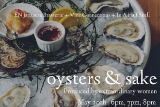 Something You Should Do: Oyster & Sake Tasting Fete-a-Tete