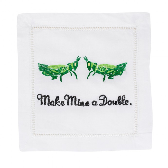 August Morgan Make Mine a Double Cocktail Napkins Fete-a-Tete