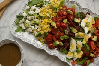 "Summertime Cobb with ""Creamy"" Honey Balsamic Vinaigrette Fete-a-Tete"