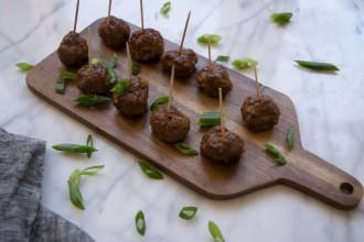 Glazed Beef Yakitori (Asian-Style Meatballs) Fete-a-Tete