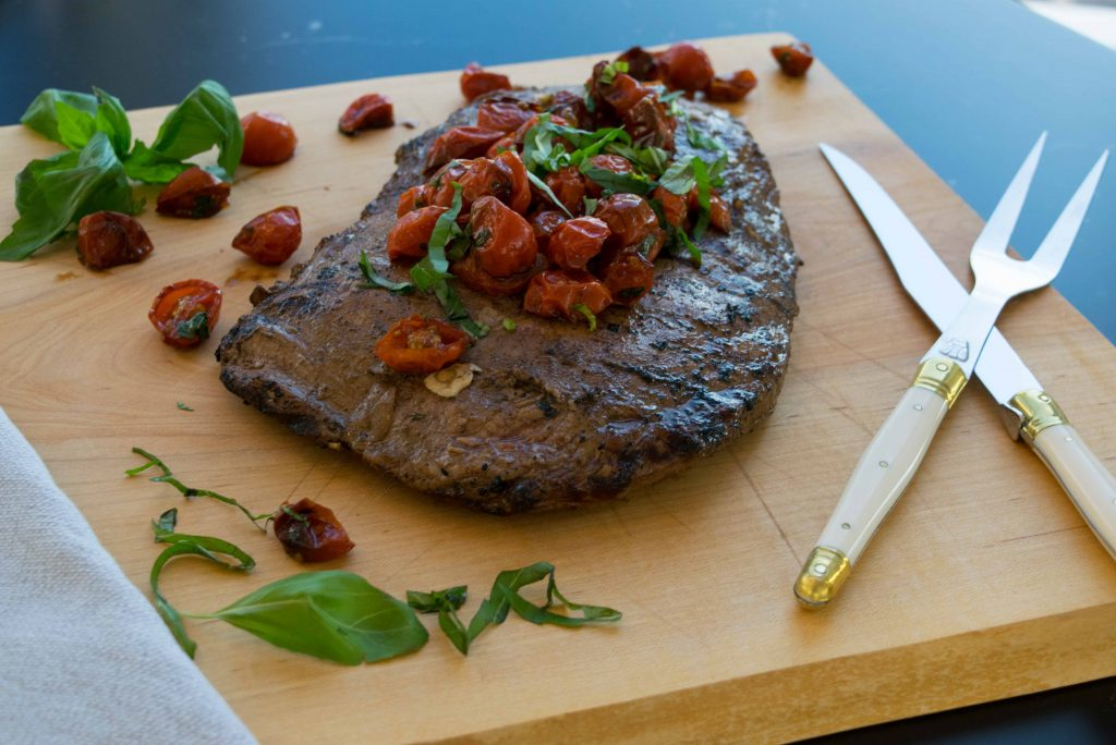 Balsamic-Marinated-Steak-with-Tomatoes